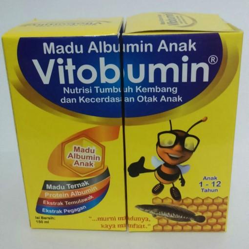 vitabumin Vitobumin madu albumin anak untuk tumbuh kembang dan kecerdasan anak